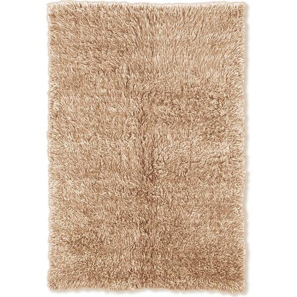 Linon Flokati Super Heavy Tan Area Rug (7' x 10')