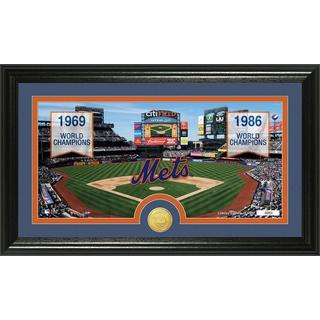 MLB New York Mets Traditions Bronze Coin Panoramic Photo Mint
