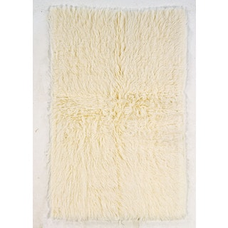 Linon Flokati Super Heavy Natural Area Rug (7' x 10')