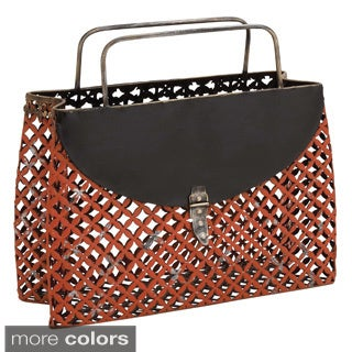 Casa Cortes Purse Style Metal Magazine Holder