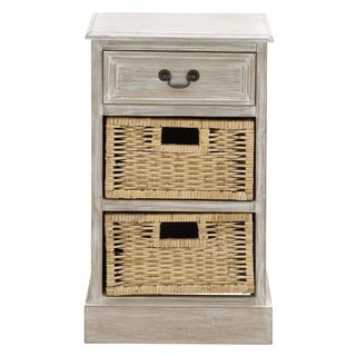 Mullholland Handcrafted Distressed 3-drawer Storage Nightstand