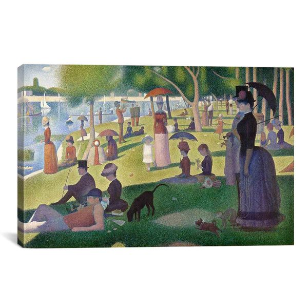 Sunday Afternoon on the Island of La Grande Jatte by Georges Seurat Canvas Print Wall Art