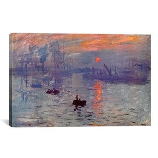Sunrise Impression by Claude Monet Canvas Print Wall Art