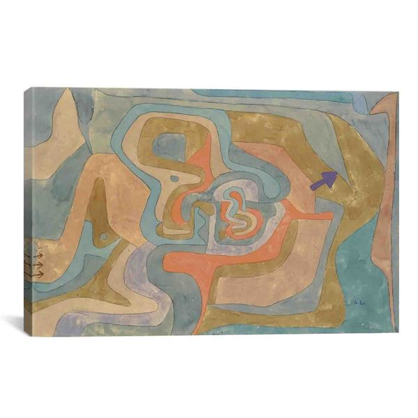 Flying Away (Entfliegen) by Paul Klee Canvas Print Wall Art