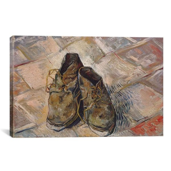 Shoes by Vincent van Gogh Canvas Print Wall Art