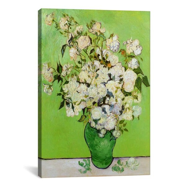 Roses by Vincent van Gogh Canvas Print Wall Art