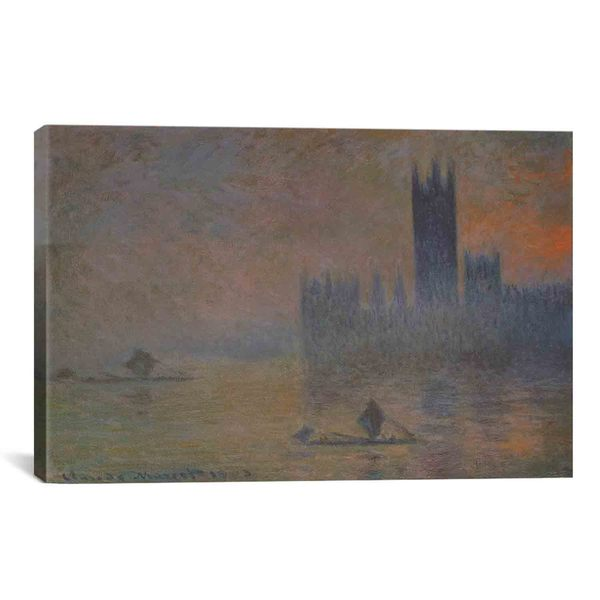 The Houses of Parliament by Claude Monet Canvas Print Wall Art