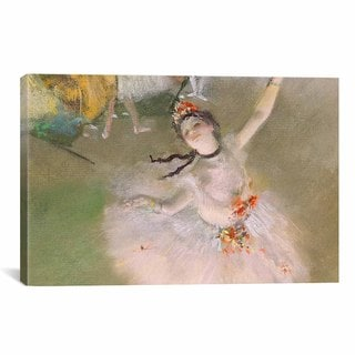 Dancer On The Stage by Edgar Degas Canvas Print Wall Art