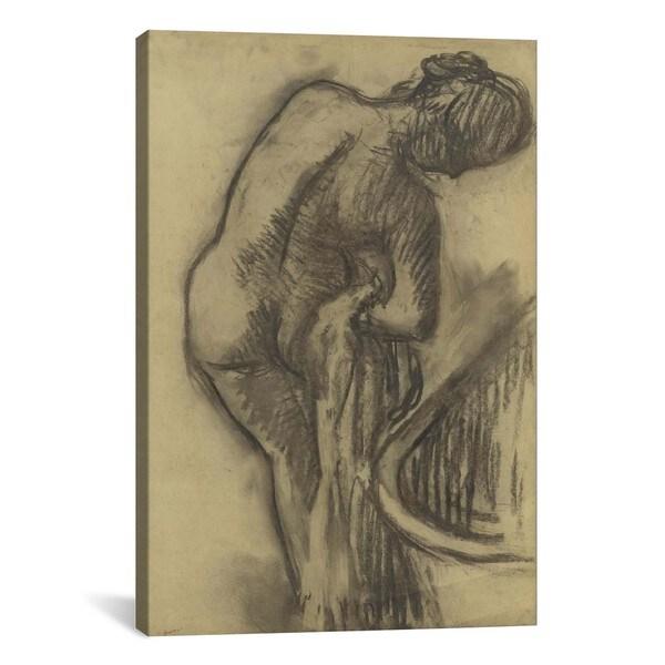 La Toilette Apres Le Bain By Edgar Degas Canvas Print Wall Art image