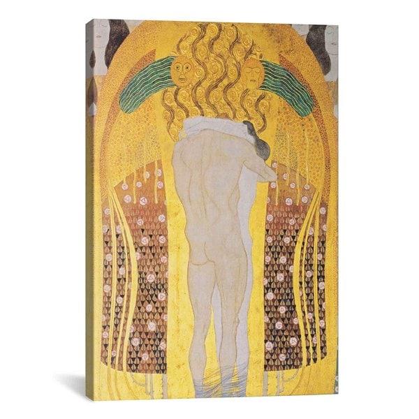 Diesen Kuss der ganzen Welt by Gustav Klimt Canvas Print Wall Art