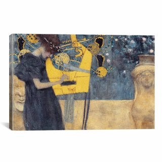Musik I by Gustav Klimt Canvas Print Wall Art
