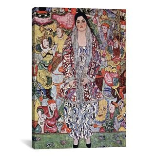 iCanvas Portrait of Friederike Maria Beer by Gustav Klimt Canvas Print Wall Art