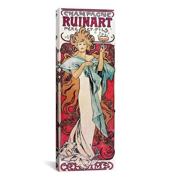 iCanvasART Alphonse Mucha Champagne Ruinart 1896 Canvas Print Wall Art