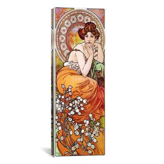 iCanvas ART Alphonse Mucha Topaz, 1900 Canvas Print Wall Art