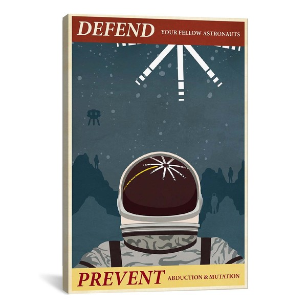 iCanvasART Prevent Abduction Canvas Print Wall Art