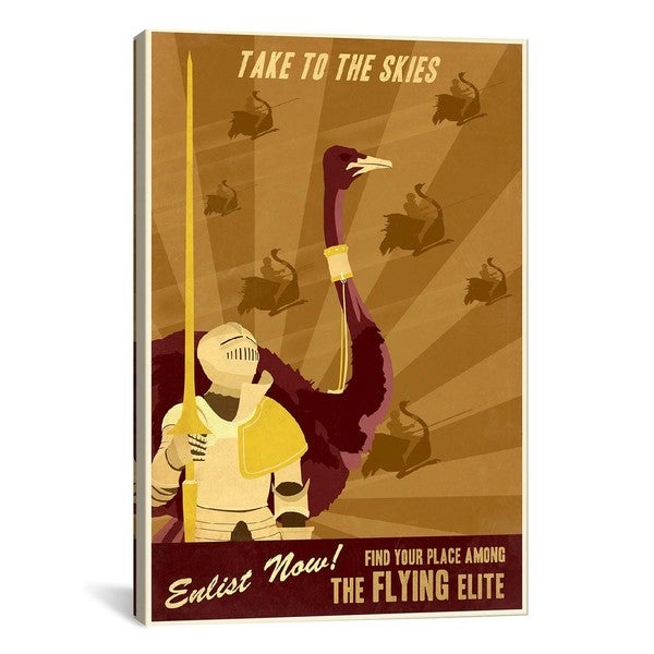 iCanvasART The Flying Elite Canvas Print Wall Art