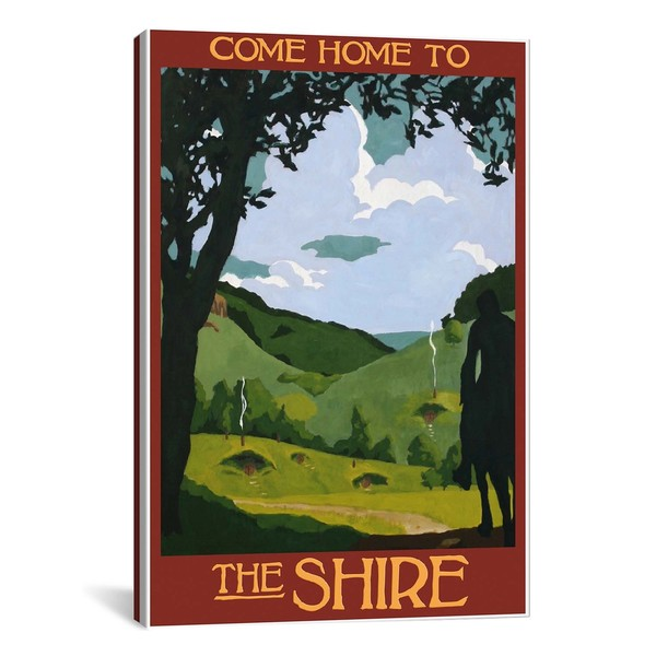 iCanvasART Come Home To The Shire Canvas Print Wall Art