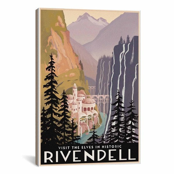 iCanvasART Visit Historic Rivendell Canvas Print Wall Art