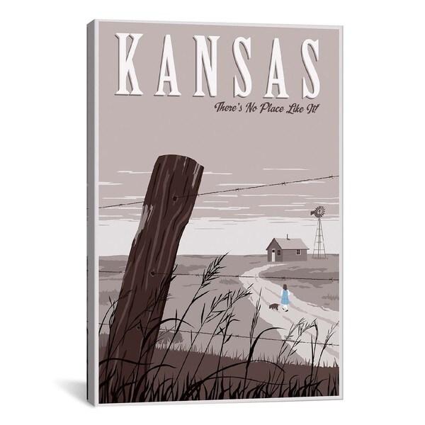 iCanvasART Wizard Oz Kansas Duo Canvas Print Wall Art