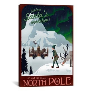 iCanvasART North Pole Christmas Canvas Print Wall Art