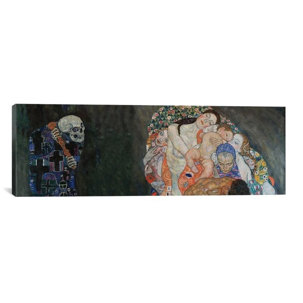 iCanvasART Gustav Klimt Death & Life Canvas Print Wall Art
