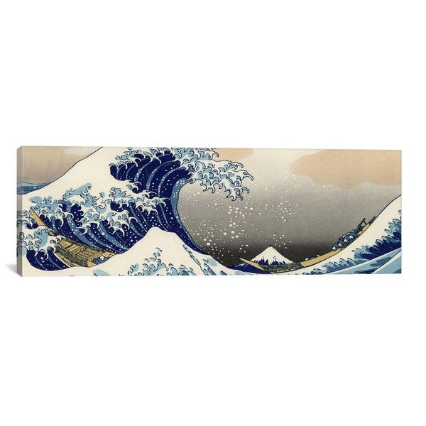 iCanvasART Katsushika Hokusai The Great Wave at Kanagawa Canvas Print Wall Art
