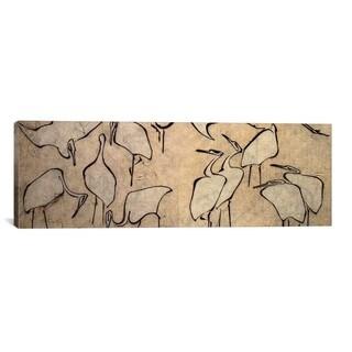 iCanvasART Katsushika Hokusai Cranes Canvas Print Wall Art