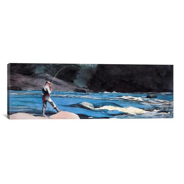 iCanvasART Winslow Homer OuananicheLake St John Canvas Print Wall Art