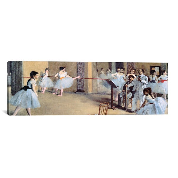 iCanvasART Edgar Degas The Dance Foyer At The Opera Canvas Print Wall Art