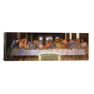 leonardo davinci 39 last supper 39 giclee canvas art. Black Bedroom Furniture Sets. Home Design Ideas