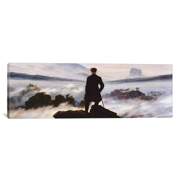 iCanvasART Caspar David Friedrich The Wanderer Above The Sea of Fog Canvas Print Wall Art