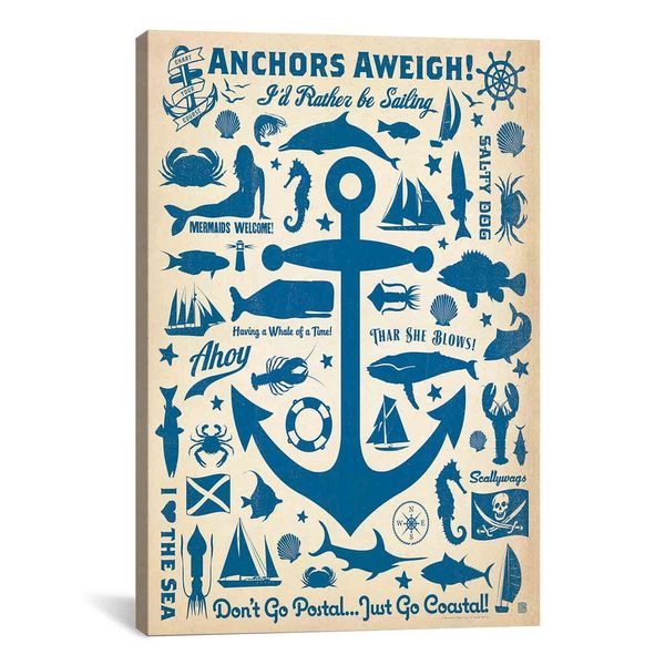 iCanvasART Anderson Design Group Anchors Aweigh! Canvas Print Wall Art