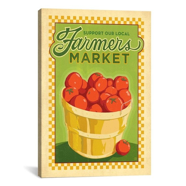 iCanvasART Anderson Design Group Support Your Local Farmers Market Canvas Print Wall Art