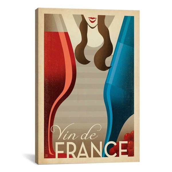 iCanvasART Anderson Design Group Vin de France Canvas Print Wall Art