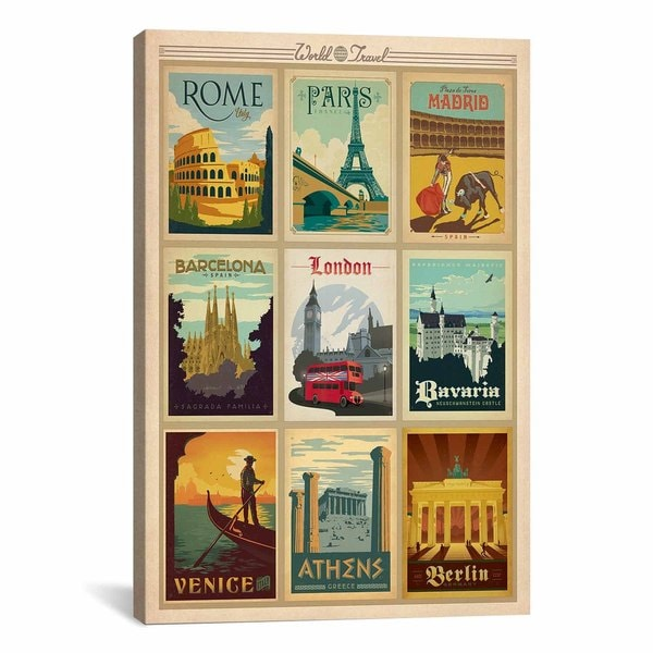 iCanvasART Anderson Design Group Europe Collection Canvas Print Wall Art