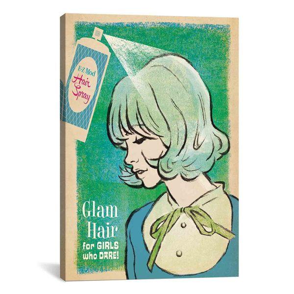 iCanvasART Anderson Design Group Glam Hair Spray Canvas Print Wall Art