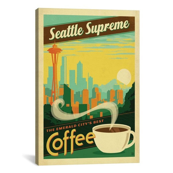iCanvasART Anderson Design Group COF Seattle Canvas Print Wall Art