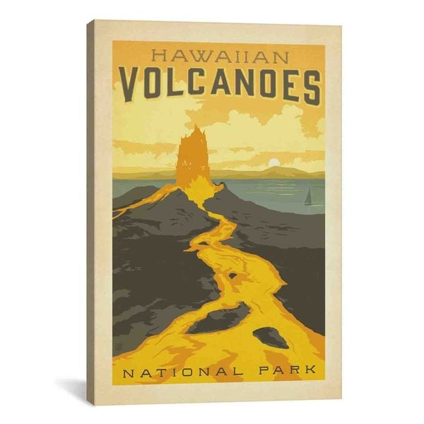 iCanvasART Anderson Design Group ASA National Parks Hawaiian Vol Canvas Print Wall Art