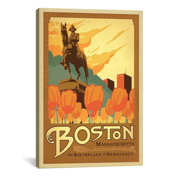 iCanvasART Anderson Design Group The Birthplace of Democracy - BostonMassachusetts Canvas Print Wall Art