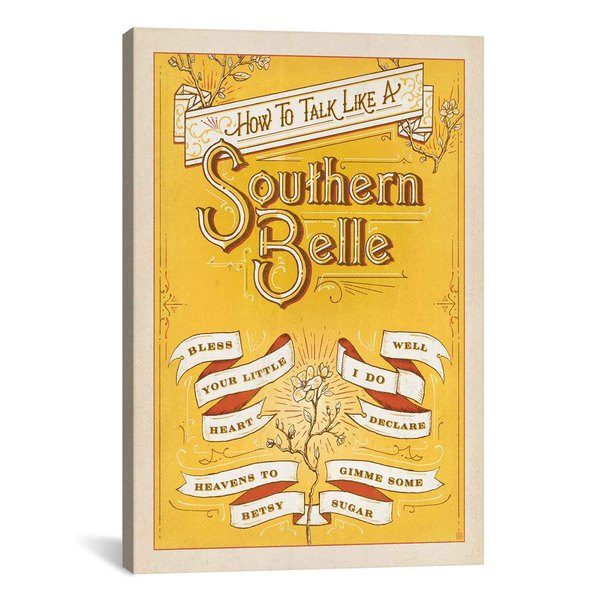 iCanvasART Anderson Design Group South Carolina Series: How to Talk Like a Southern Belle Canvas Print Wall Art