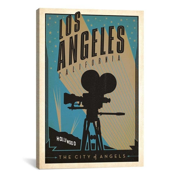 iCanvasART Anderson Design Group The City of Angels - Los AngelesCalifornia Canvas Print Wall Art