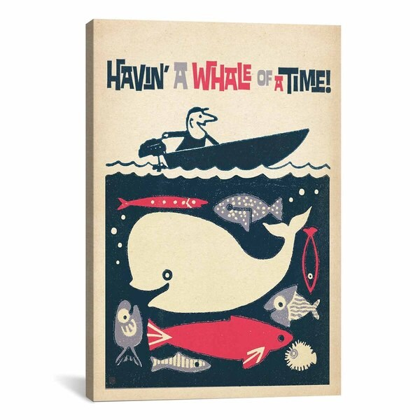 iCanvasART Anderson Design Group Havin' a Whale of a Time! Canvas Print Wall Art