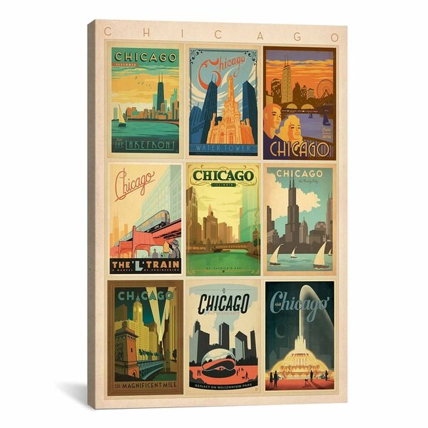 iCanvasART Anderson Design Group Chicago Collection Canvas Print Wall Art