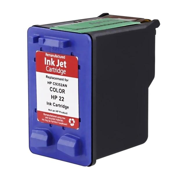 INSTEN Remanufactured Inkjet C9352 No.22 Ink Cartridge for HP Deskjet PSC Fax