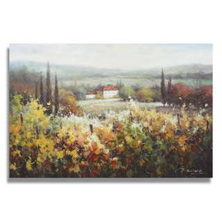 Richard 'Tuscany hillside landscape with farm house' Gallery-wrapped Canvas