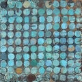 Art in Style Dots of Blue Hand Painted on Canvas Wall Art