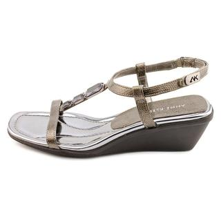 Anne Klein AK Women's 'Miraculous' Synthetic Wedge Sandals