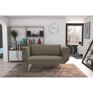 DHP Euro Futon Sofa Bed with Magazine Storage
