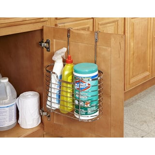 Large Chrome Over the Cabinet Organizer