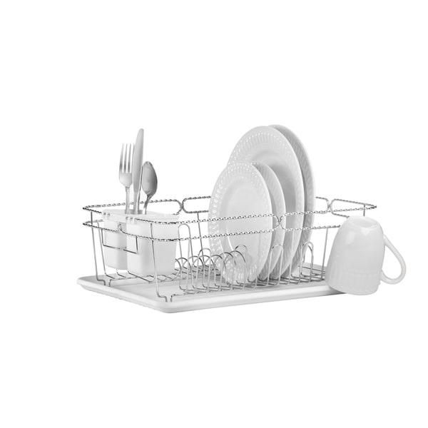 3-piece Chrome Twisted Dish Rack 13123975